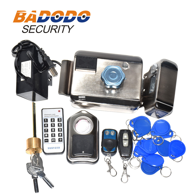 2 remote control 12VDC adapter 10 tags Access Control system Electronic integrated RFID Door Rim lock