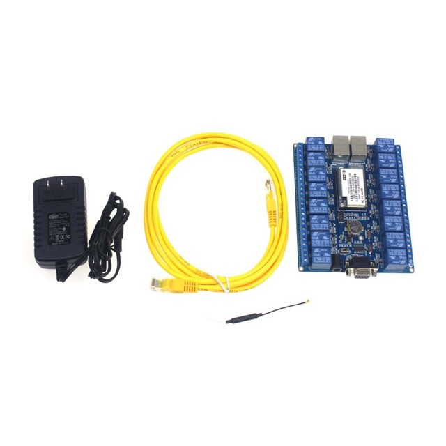 16 channels digital control switch relay module smart home automation WIFI relay HLK-SW16