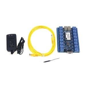 Image 2 - O envio gratuito de 16 canais módulo relé interruptor controle digital automação residencial inteligente wi fi relé HLK SW16