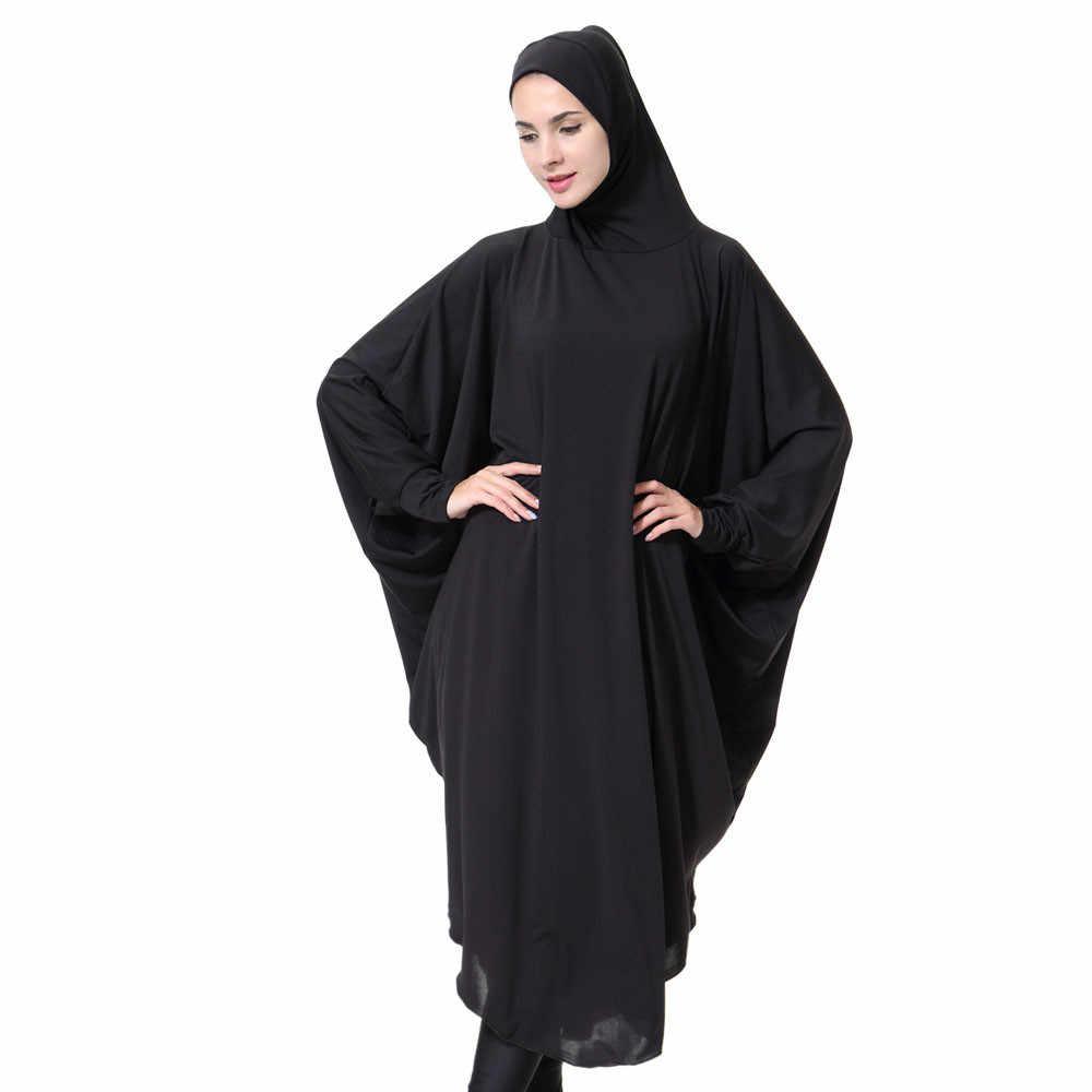 Womail kobiet pani codziennie na co dzień muzułmańska Soild długo z długim rękawem w stylu Vintage moda sukienki abayas dla kobiet sukienka hidżab C30118