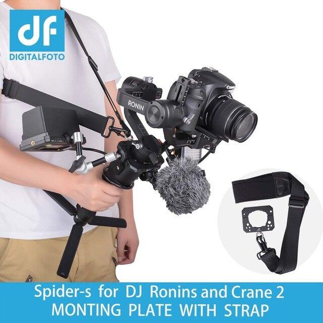 DIGITALFOTO araignée moniteur montage sangle accessoires plaque pince compatible pour DJI Ronin S ZHIYUN grue 2 3 axes cardan-in Accessoires cardan from Electronique    1