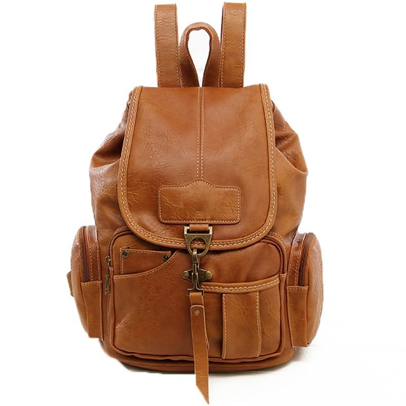 ФОТО High Quality PU Leather Women Backpack Fashion Designer Brand for Teenager large capacity star same backpack rusack bolsas XA98B