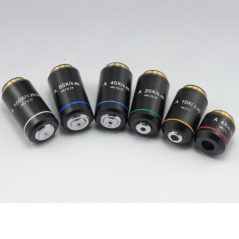4X 10X 20X 40X 60X 100X Achromatic Infinite Infinity Objective Lens for Biological Microscope Zeiss Olympus Infinity Microscope brand new microscope achromatic objective lens 4x 10x 40x 100x set free shipping page 9