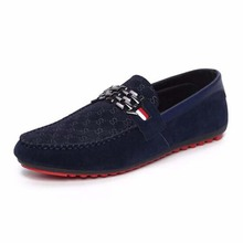 Red Bottoms Loafers Black Men Shoes Slip On Men's Casual Flat Shoes 2016 Fashion Male Breathable Moccasin  Driving Shoes