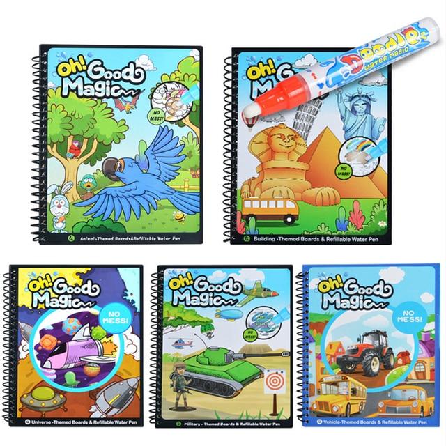 10 Tipos de Magia Libro Garabato Libro Para Colorear con Pluma ...
