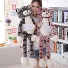 Peluche de gato de juguete de 50cm 90cm para niños, peluche de gato de juguete en color negro y gris