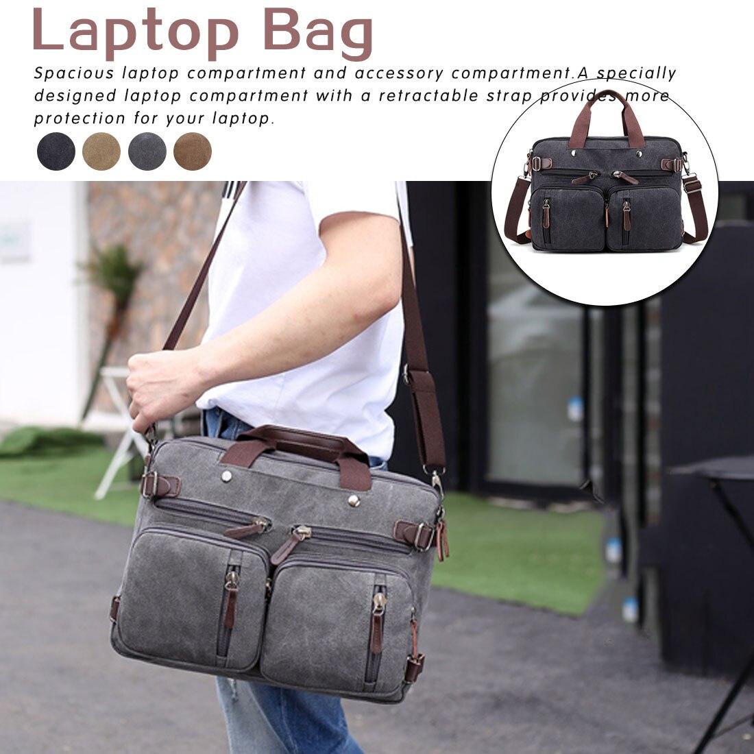 Men's backpack business  shoulder diagonal laptop bag female fashion large 3 in 1 laptop bag