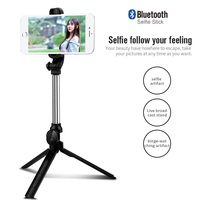 Free shipping Extendable Selfie Stick Mini Tripod Wireless Remote Bluetooth Shutter Fit IOS Android Mobilephones