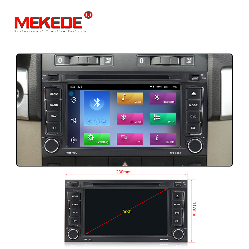 New arrival Mekede android 9 1 Car multimedia system car radio GPS DVD player for VW