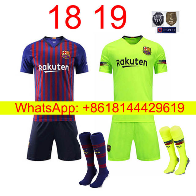 newest a6cd1 509d9 Free shipping camisetas de futbol kit socks Barcelonaing men messi Soccer  jersey best quality 2019 2018 football jersey-in Soccer Jerseys from Sports  ...