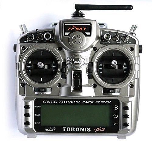 FrSky X9D Più Il Trasmettitore 2.4g 16CH ACCST Taranis con x8r ricevitore e la batteria sinistro della valvola a farfalla