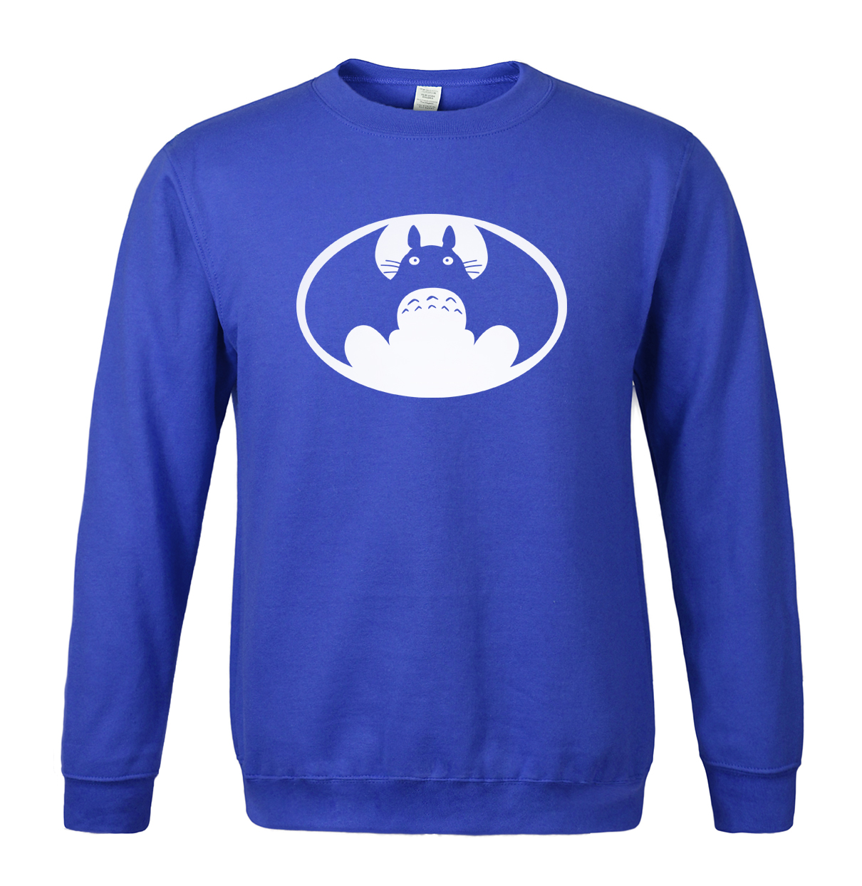 Autumn winter sweatshirt 2019 fleece hoodies men Totoro VS Batman funny print anime cartoon hoody men's sportswear tracksuits