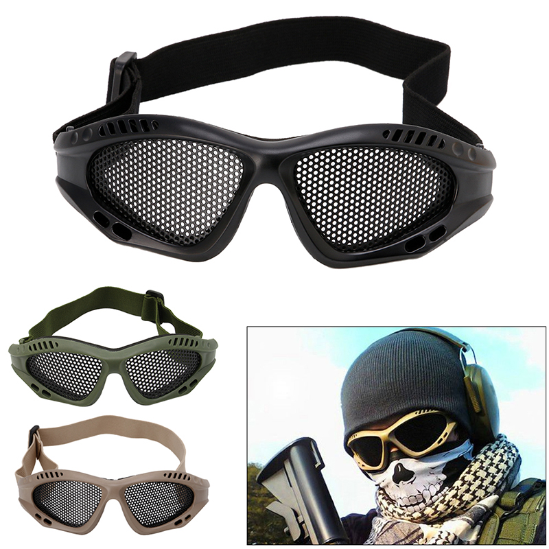 Eye Protective Airsoft Safety Tactical Goggles Anti Fog With Metal Mesh Outdoor Drop Shipping Support