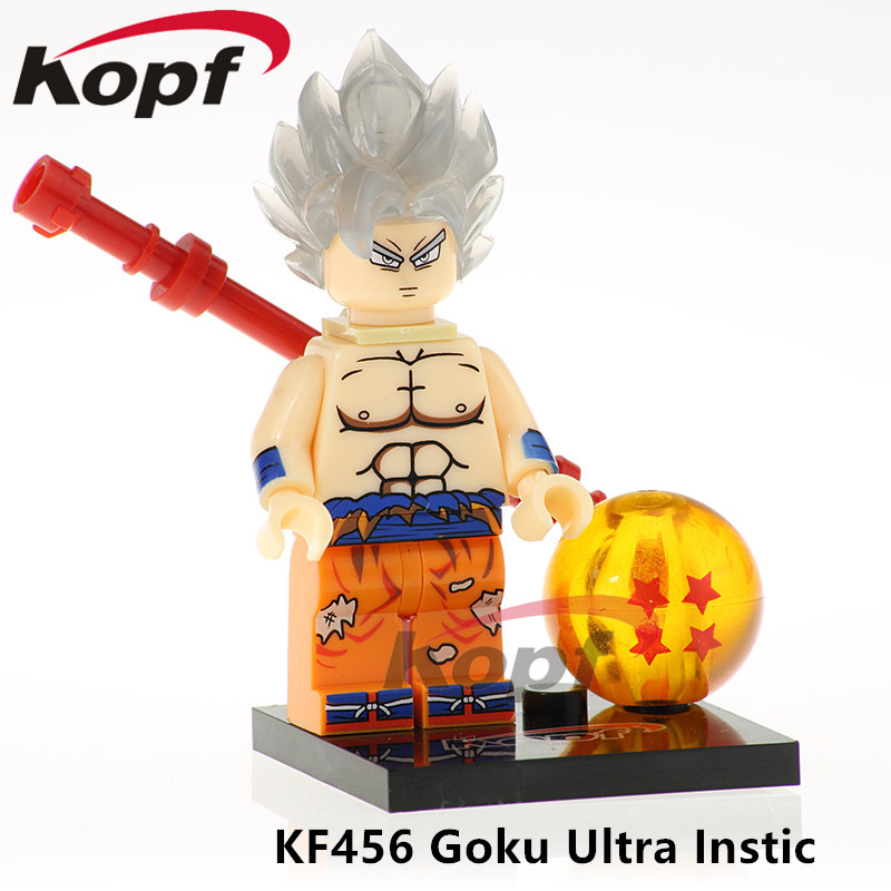 Building Blocks Single Sale Dragon Ball Z Figures Goku Ultra Instic Freiza Vegeta Super Heroes Bricks Children Toys Gift KF456