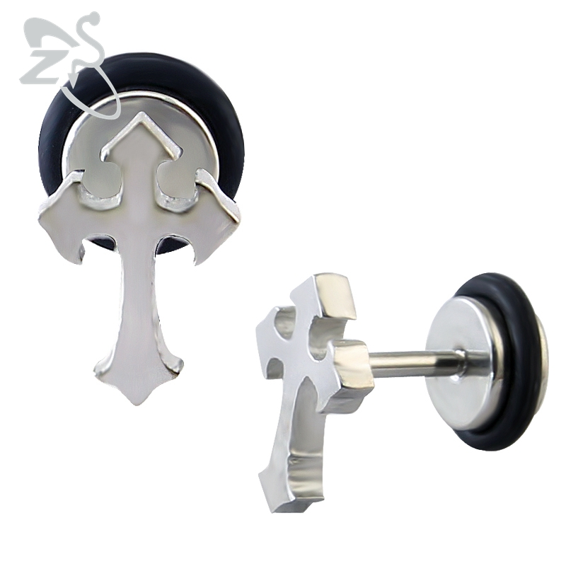 Cross earrings for women men double stud earrings stainless steel fashion small stud earrings jewellery boucles doreilles