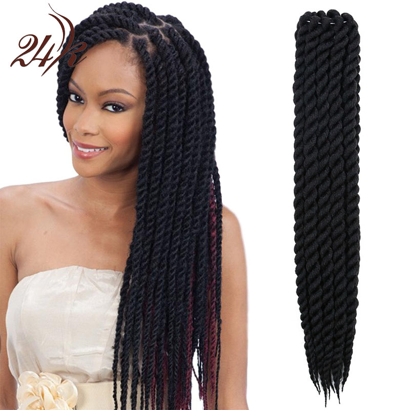 Crochet Hair Sale : Mambo Twist Crochet Braids Hair 22 Inch Senegalese Synthetic Crochet ...