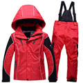 New 2016 Children kids boys girls jacket+pants ski suits snowboarding skiing jackets Sports Waterproof Windproof Breathable