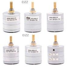 EIZZ Stereo 10 K 25 K 50 K 100 K 250 K 24 Schritte Volumen Potentiometer LOG Trat Dämpfer Gold überzogene Kupfer Pins Hifi Audio DIY