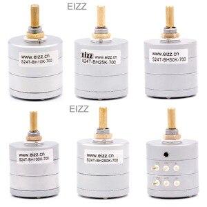 Image 1 - EIZZ Stereo 10 K 25 K 50 K 100 K 250 K 24 Stappen Volume Potentiometer LOG Stapte Verzwakker Goud vergulde Koperen Pins Hifi Audio DIY