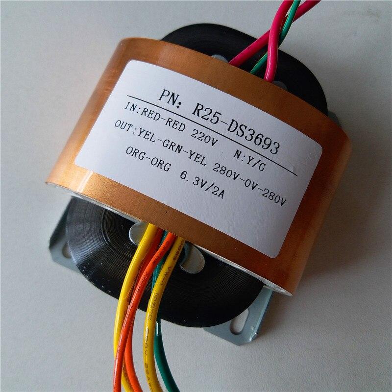 280V 0 280V 0 03A 6 3V 2A Transformer R Core R25 custom transformer 220V 30VA