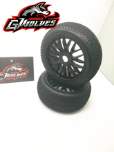цена 4pc GWOLVES 1/8 RC Buggy Truck Off-Road Tyre Nylon plus hard 17mm Adapter wheels Bee Contest practice for RC car parts в интернет-магазинах