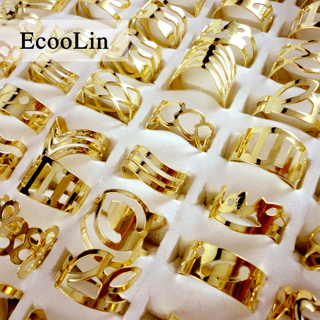 20pcs Mix Style Zinc Alloy Gold Band Finger Tattoo Ring Toe Rings For Women Men
