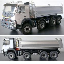 1/14 JDM 65D 8X8 RC inżynieria hydrauliczna wywrotka przyczepa do ciągnika BENZ MAN SCANIA Samochody RC    -