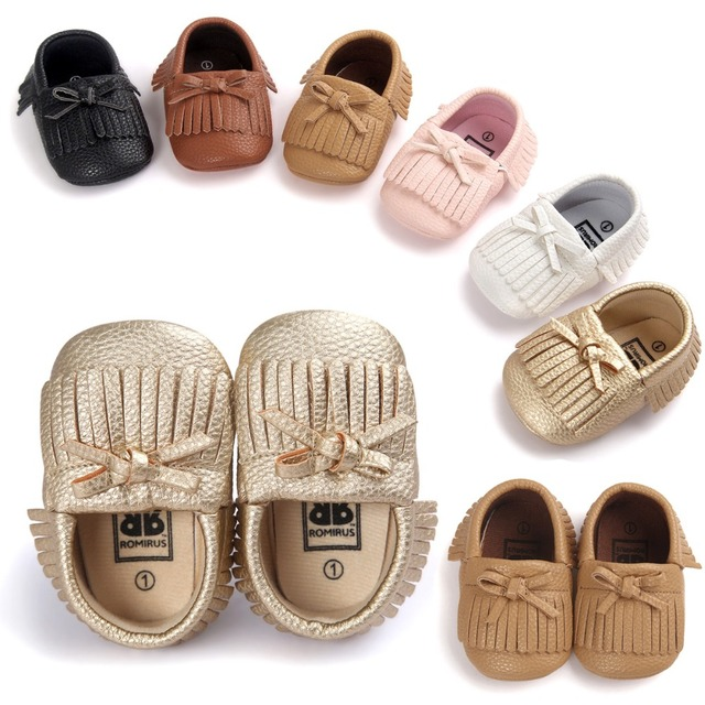 ba234cf45b US $3.35 30% OFF|Fashion Tassel Moccasins Baby Shoes Leather Girls Toddler  Shoes Soft Bottom Infant First Walkers-in First Walkers from Mother & Kids  ...