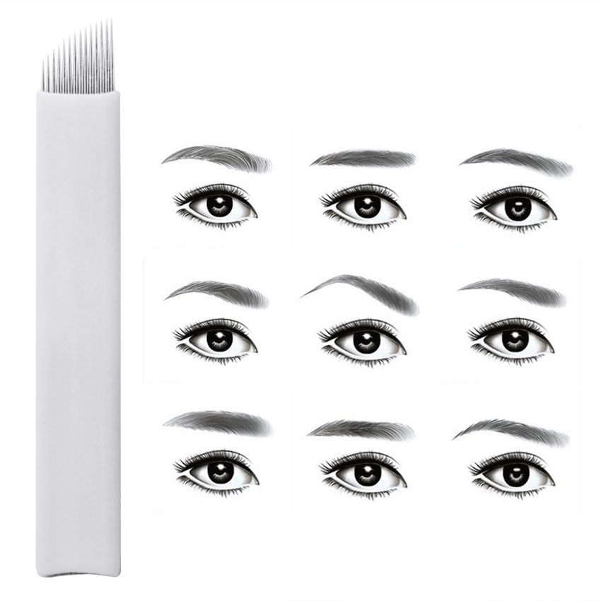 Microblading Tattoo Needles 1200pcs Permanent Makeup Eyebrow Lip Eyeliner 3D Embroidery for Manual Pen