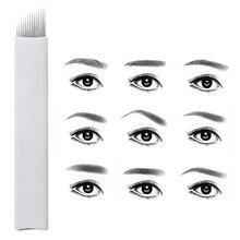 Микроблейдинг тату иглы 1200 шт Перманентный макияж бровей губ подводка для глаз 3D вышивка для ручной ручки
