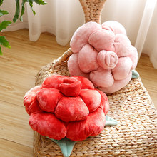 Rose design Pillow Cushion Creative Cushion Plush Flowers Cute Bedside Sofa Back Car Waist cushion