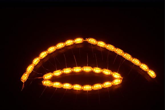 ФОТО SANVI LED Day Running Light 5.6W 12V LED Headlights Auto Light Crystal DIY Flexible lamp Car-styling Retrofit Car Lights