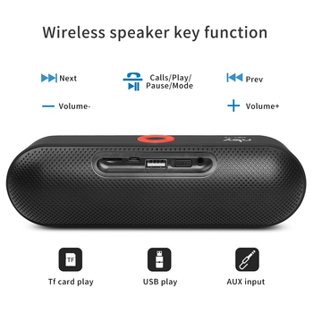 Portable Bluetooth Speaker with Dual Driver 12 Hours Playtime 4