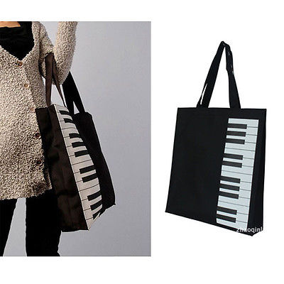 New Fashion Black Piano Keys Music Handbag Tote Bag Ping In Top Handle Bags From Luggage On Aliexpress Alibaba Group