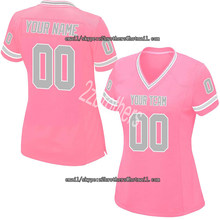 d056af10692 Custom Pink Mesh Replica Football Game Jersey High School College Embroidered  Team Name logo Your Number for Men Women Adult Kid