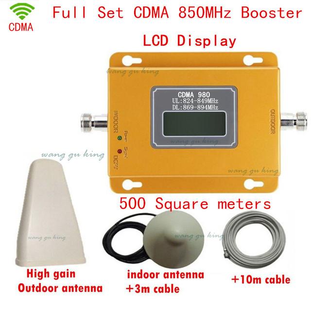 Conjunto completo Display LCD Amplificador de Ganho 70dBi Telefone Móvel CDMA 850 mhz Sinal de Telefone Celular Impulsionador Repetidor CDMA 850 Moble amplificador
