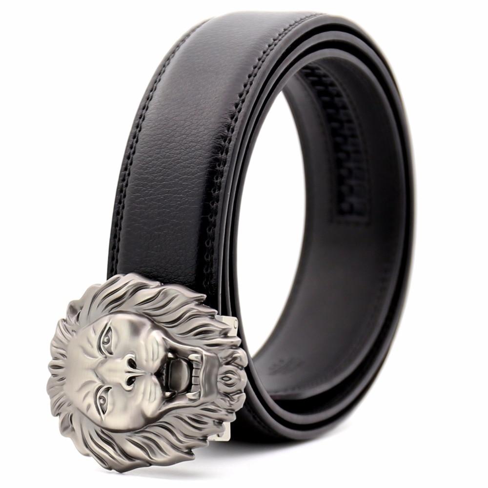 KAWEIDA Fashion Lion Metal Automatic Buckle   Belt   Designer   Belts   for Men 2018 Ceinture Homme Luxury Men's Genuine Leather   Belt