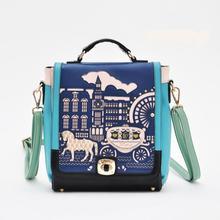 H1801 Милый Сладкий Корея лошадь лучших qualit мешок полые ретро коробка сумка рюкзак оптовая груза падения J713 0.25