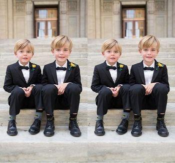 Custom Made Kid Boy Tuxedos Suits Clothing Boys Wedding Events Suit Boy'S Attire Groom Tuxedo Wedding Suits For Boys