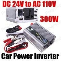 Modified Sine Wave voltage Transformer 300W power inverter DC 24V to AC 110V car power converter free shipping