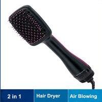 Professional Dropshipping Brush Hair Straightener Comb Hair Dryer One Step Dryer Styler Negative Ion Brush Hot Air Brush Styler