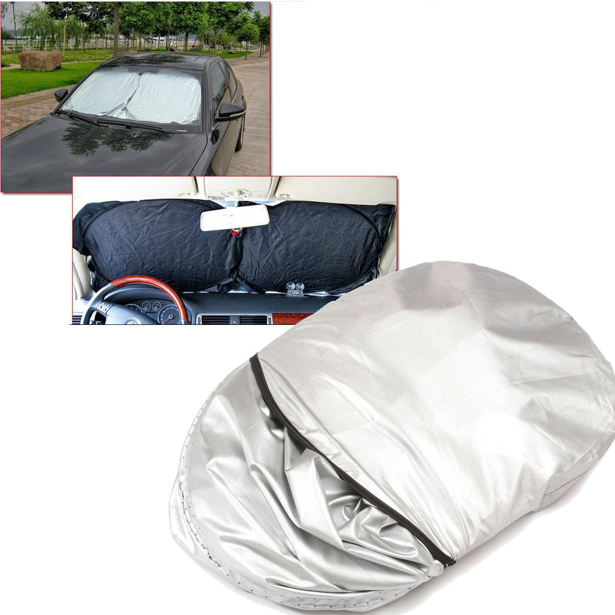 190 x 90cm Folding SUV Truck Car Front Rear Window Sun Shade Visor Windshield Block Cover