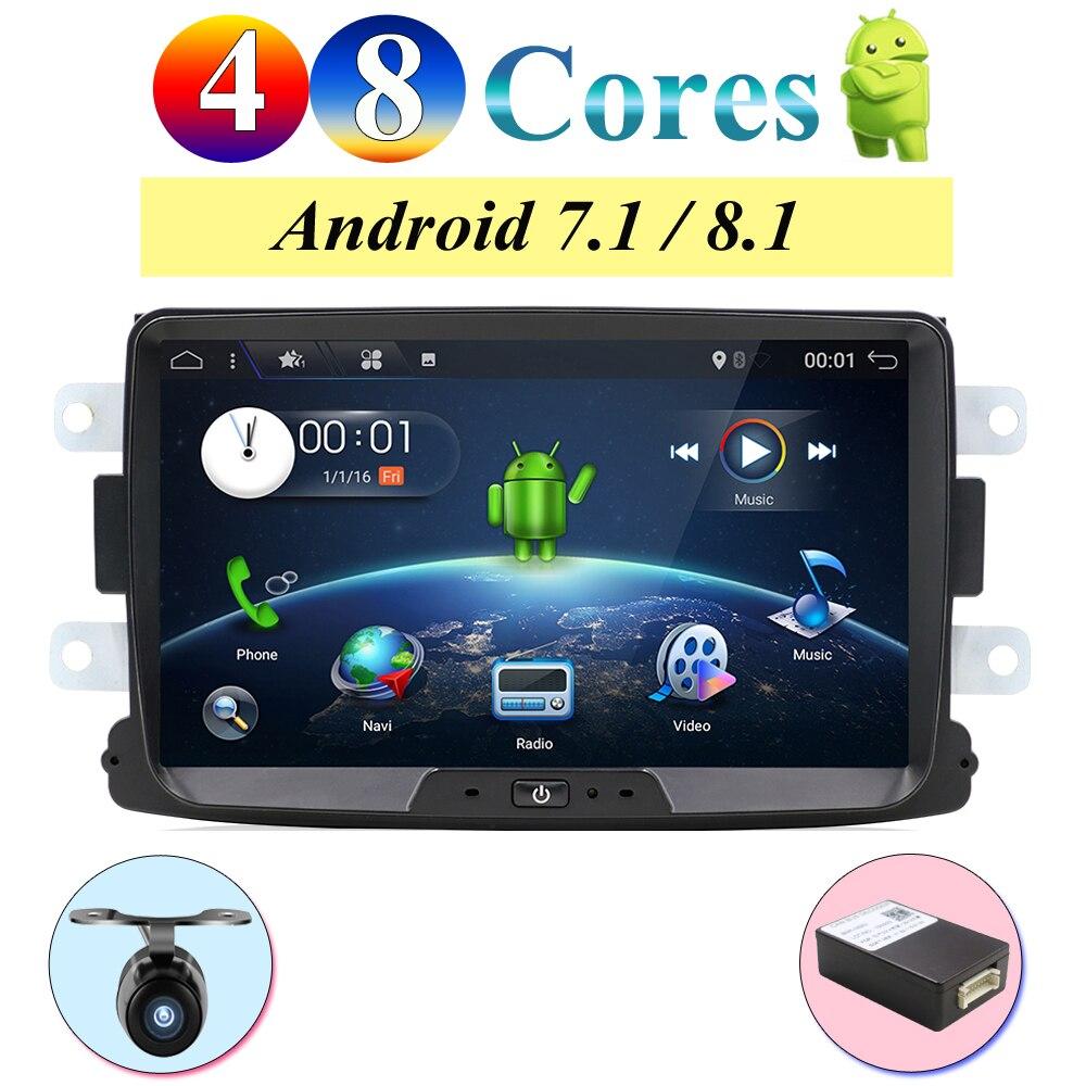 Quad Cores/Octa Cores Android 8.0/8.1 Radio car gps Navi For Duster Dacia Logan Sandero stereo Central Cassette Player Camera