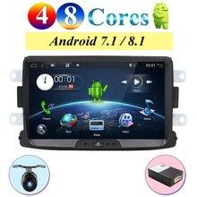 Quad Core/Octa Core Android 8.0/8.1 Radio auto gps Navi Per Duster Dacia Logan Sandero stereo Centrale lettore di Cassette Macchina Fotografica