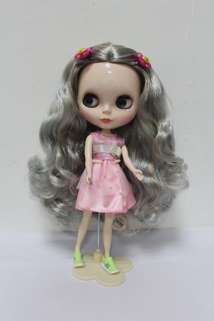 Free Shipping big discount RBL-161DIY Nude Blyth doll birthday gift for girl 4colour big eyes dolls with beautiful Hair cute toy big beautiful eyes косметический набор косметический набор big beautiful eyes