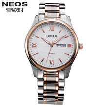 NEOS Brand Business Stainless Steel Straps Women Watches Calendar Fashion Trends Leisure Waterproof Quartz Watches