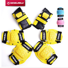 лучшая цена WINMAX Outdoor & Indoor 6 Pcs Protective Pad Set Gear Sports Military Knee Elbow Protector Elbow & Knee Pad for Kid