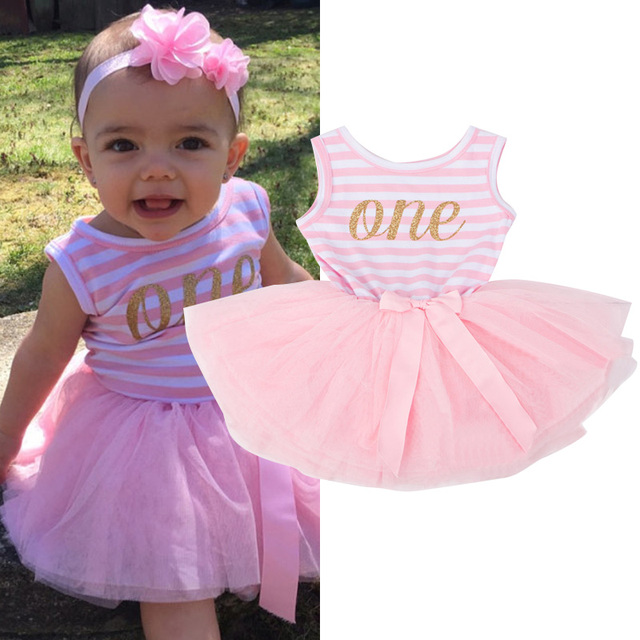 219ae76fd1f0 Toddler Girl 1st 2nd 3rd Birthday Party Dress Baby Girl Clothing ...