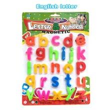 Английский или Арабский письмо Язык пластиковые Холодильник магнитных букв карты головоломки образовательных Алфавита Обучающие Игрушки для детей