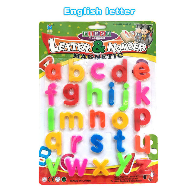 english or arabic letter language plastic magnetic letters cards puzzle drawing board ucational learning toys for